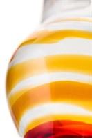 Стеклянная анальная пробка-стимулятор - 9 см. - фото 389241