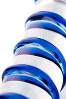 Прозрачный фаллос из стекла со спиралью - 18 см. - фото 696252