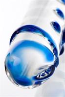 Двусторонний прозрачный фаллос из стекла - 20 см. - фото 97491