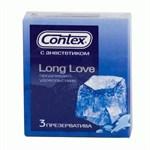 Презервативы с продлевающей смазкой Contex Long Love - 3 шт. - фото 84425