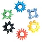 Набор из 6 разноцветных эрекционных колец - фото 205759