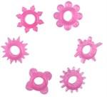 Набор из 6 розовых эрекционных колец - фото 84801