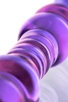 Двусторонний стеклянный фаллос-ёлочка - 22,5 см. - фото 239477