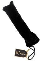 Стеклянный стимулятор с ручкой-шаром и цветными пупырышками - 22 см. - фото 1142123