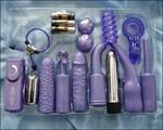 Фиолетовый набор для анально-вагинальной стимуляции - фото 699993