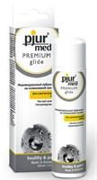 Гипоаллергенный силиконовый лубрикант pjur MED Premium glide - 100 мл. - фото 239659