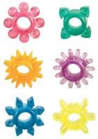 Набор из 6 разноцветных эрекционных колец Senso 6 Pak SE-1432-00-2 California Exotic Novelties - фото 606559