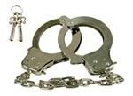 Металлические наручники с 2 ключами Chrome Hand Cuffs - фото 313973