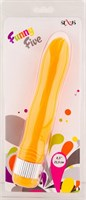 Оранжевый водонепроницаемый вибратор - 21,5 см. - фото 384423