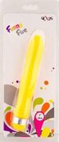 Желтый водонепроницаемый вибратор - 18 см. - фото 314011