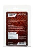 Красная анальная цепочка Black Red - 31 см. - фото 97054