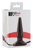 Черная анальная втулка Black Red - 10 см. - фото 85046