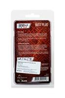 Черная анальная втулка Black Red - 10 см. - фото 97055