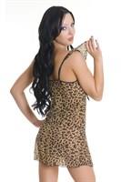 Сорочка и трусики-стринг с леопардовым принтом - фото 513205