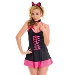 Черно-розовый костюм кошечки - фото 700560