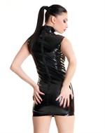 Лаковое платье на молнии - фото 513239