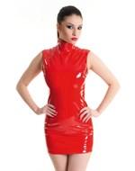 Лаковое платье на молнии - фото 513240