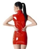 Лаковое платье на молнии - фото 513241