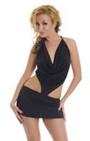 Черное платье с вырезами по бокам - фото 728825