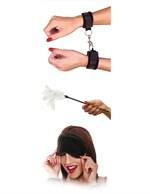 Набор фиксаций для эротических игр с перышком Sensual Seduction Kit - фото 85227