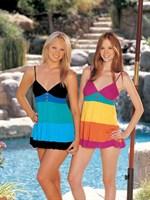 Короткое платье в полоску - фото 238016