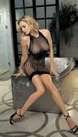 Сексуальное платье из сетевого материала - фото 204475