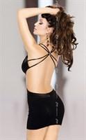 Черное платье Elly с открытой спиной - фото 514591
