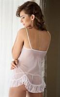 Сорочка Sable с открытой грудью и кружевными оборочками - фото 514609