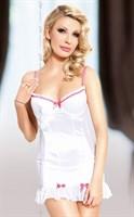 Сорочка Lizzy с бантиками и трусиками-стринг - фото 85286