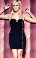Черное эротичное платье Elly - фото 1647499