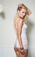 Кружевная сорочка Evie на шнуровке сзади - фото 1647509