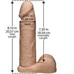 Ультрареалистичная насадка для трусиков Vac-U-Lock 8  ULTRASKYN Cock - 20,57 см. - фото 85434