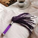 Фиолетовая замшевая плеть Sensua - фото 514925