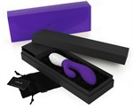 Вибромассажер Ina 2 фиолетового цвета - 20 см. - фото 206679