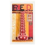Ребристая анальная втулка Red Boy Anal Wand Butt Plug - 21,3 см. - фото 131859