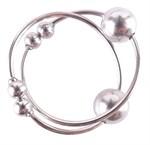 Серебристые колечки для сосков Silver Nipple Bull Rings - фото 204251