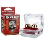 Золотистые вагинальные шарики Ben Wa Balls - фото 1140923