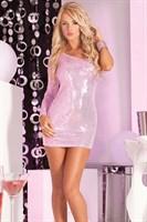 Платье с открытым плечом и пайетками GLITTERATI SEQUIN DRESS - фото 293562