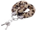 Наручники с леопардовым принтом на опушке - фото 85661