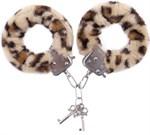 Наручники с леопардовым принтом на опушке - фото 132116