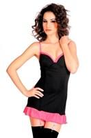 Черно-розовое платье с пажами и стрингами - фото 704514