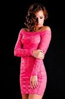 Облегающее платье с рукавами и стрингами - фото 704516