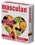 Жёлтые презервативы Masculan Ultra Tutti-Frutti с фруктовым ароматом - 3 шт. - фото 1129004