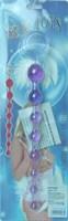 Фиолетовая анальная цепочка - 30 см. - фото 1143378