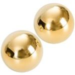 Подарочные вагинальные шарики под золото Ben Wa Balls - фото 1510722