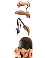 Набор для эротических игр Lover s Fantasy Kit - наручники, плетка и маска - фото 176646