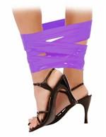 Фиолетовая самоклеющаяся лента для связывания Pleasure Tape - 10,6 м. - фото 1143492
