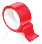 Красная самоклеющаяся лента для связывания Pleasure Tape - 10,7 м. - фото 1510756