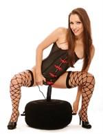 Надувная кушетка с виброфаллосом Inflatable Hot Seat - фото 1143512