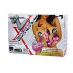 Розовые присоски-вибромассажеры для сосков - фото 85939